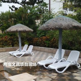 舒适的泳池躺椅 ABS塑料沙滩躺椅厂家