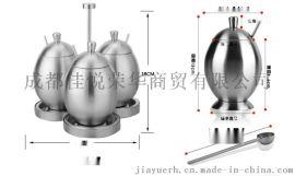 不鏽鋼調味瓶罐 創意蛋形帶勺調料盒套裝 廚房用品