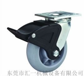 厂家直销 6寸软胶轮圆边 万向带尼龙刹