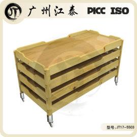 幼儿园专用床板式活动床,实木木制床质家具