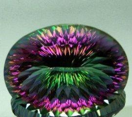 天然水晶椭圆形彩色宝石(OV203001)