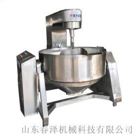 电磁行星搅拌锅 海鲜酱自动抬臂倾斜出料炒锅