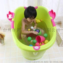 儿童浴盆 婴幼儿浴盆 可坐式可躺式加厚多功能浴盆