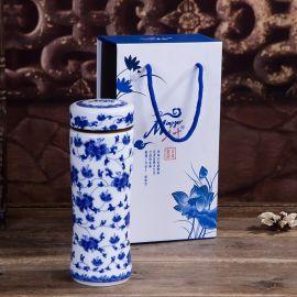 礼品陶瓷保温杯加字定做厂家