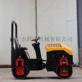 小型沥青压实机柴油振动手扶座驾压路机 自行式压路机
