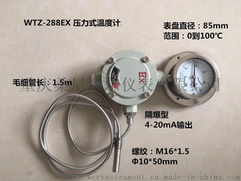 WTZ WTQ 气体液体压力式电接点防爆温度表