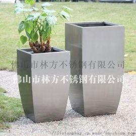 厂家加工 镜面不锈钢装饰花盆 异形金属花钵