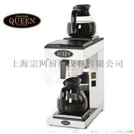 QUEEN M2 手动型双盘美式咖啡机 进口商用滴滤机 配咖啡壶