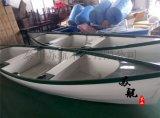 4米兩頭尖手划船 歐式觀光木船 旅遊景區手划船 款式可定製