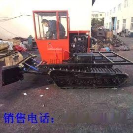 履带式防滑推雪机 座驾式除雪车机 多功能扫雪机