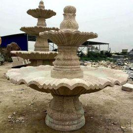 大型园林雕塑喷泉风水球石雕喷泉欧式流水喷泉