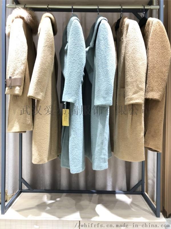 品牌折扣衣服走份苏丽羊驼18年冬装毛呢大衣