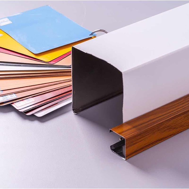 u型铝方通厂家定制U型槽喷粉热转印木纹铝方通吊顶