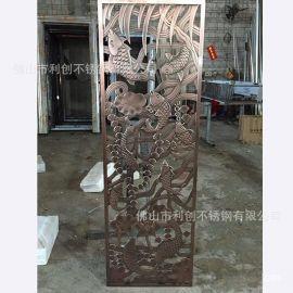 鍍銅鋁屏風加工歐美流行家庭擺件鋁雕刻玄關鋁隔斷
