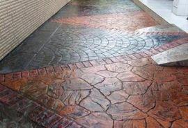 桓石 印模混凝土印花地坪材料强固彩色混凝土施工