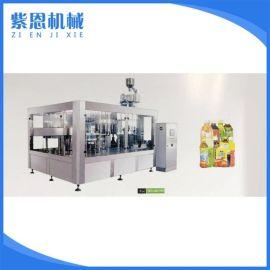 饮料机械灌装机 全自动热灌装机械 三合一灌装生产线