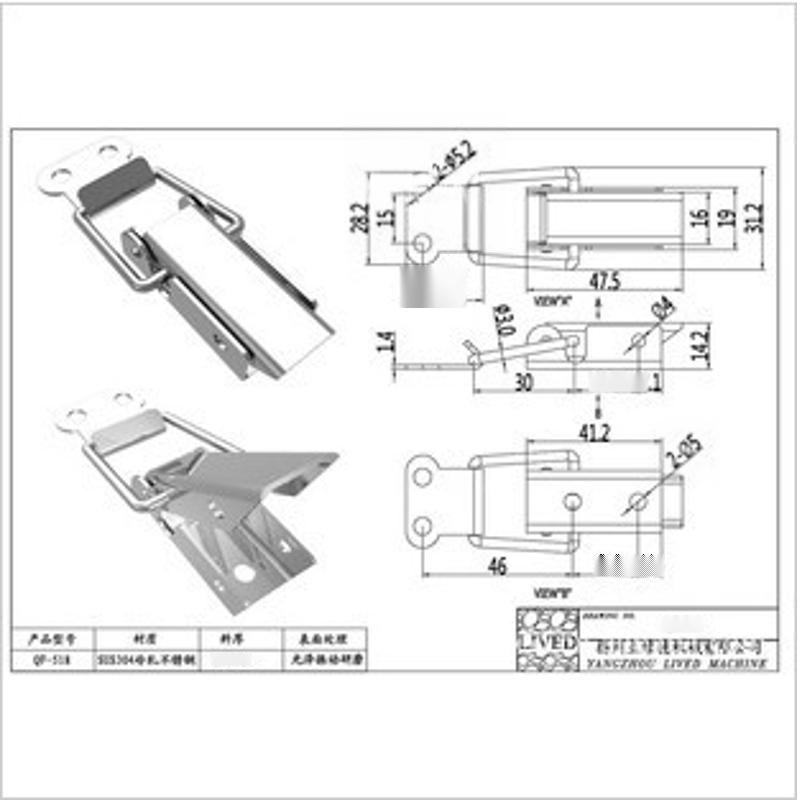 l精品推荐 供应质量保证的 不锈钢搭扣QF-517