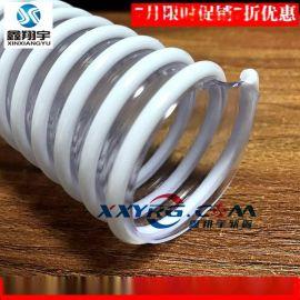 PVC透明塑筋增强软管/磨床吸尘管/牛筋管/缠绕管、通风排气管3寸