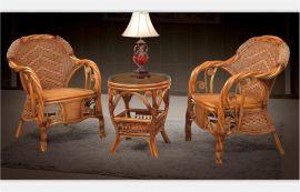 田园休闲藤椅组合三件套9002