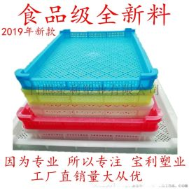 白色单冻器家用仓库烘干网格盘塑料塑料框冰盘矮盘冷