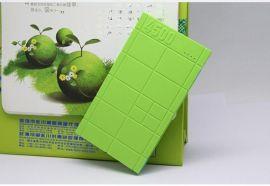 内置线巧克力移动电源 超薄充电宝手机平板电脑通用充电器