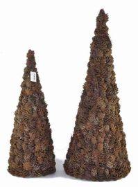 藤編松果聖誕樹