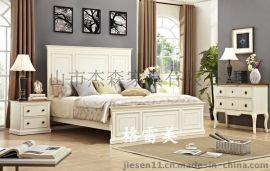 新款双人实木床 美式家具实木床 中山家具厂家