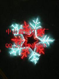 雪花灯_五角星雪花商场外墙圣诞灯画led路灯杆图案灯过