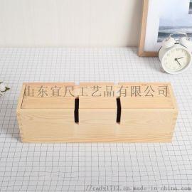 创意单支酒水饮料包装礼盒 松木两用嵌合酒架酒盒
