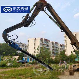 华南地区光伏钻孔 钻桩挖机螺旋钻机
