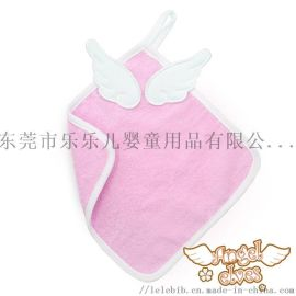 洗臉毛巾天使翅膀純棉小毛巾25*25純棉嬰兒方巾