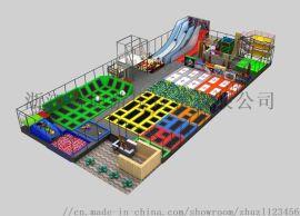 室内大型成人超级蹦床公园儿童乐园 滑梯游乐设备