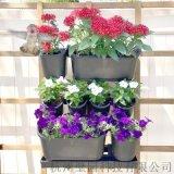 户外墙壁拼接花盆PP塑料植物容器