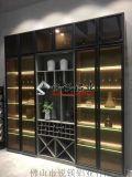 窄边框金色黑色极简玻璃门材料模具厂家现货供应