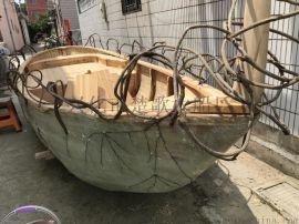 山东聊城影视道具木船户外景观装饰船厂家直销