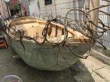 山東聊城影視道具木船戶外景觀裝飾船廠家直銷