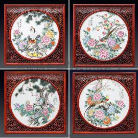 陶瓷装饰画 陶瓷屏风艺术画 家居装饰瓷板画