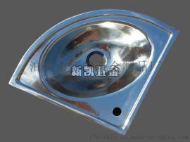 厂家供应不锈钢洗手盆移动厕所角落用小角盆