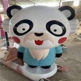 佛山玻璃鋼卡通熊貓雕塑廠家