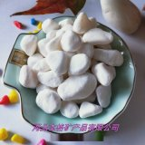 厂家直销机制白石子 白色洗米石 抛光鹅卵石雨花石