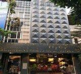 万傅商场干挂穿孔铝单板-黑白艺术冲孔铝单板