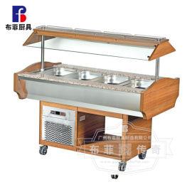 木制自助餐台沙拉餐台豪华沙拉台操作台 自助餐设备