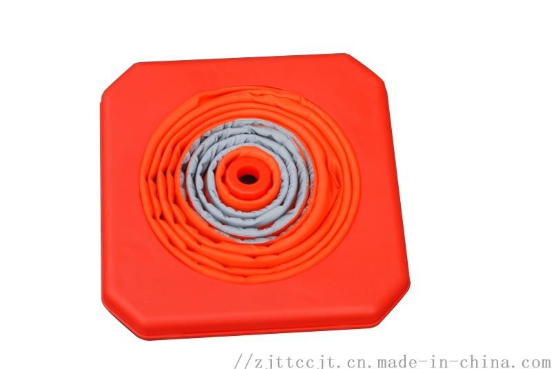 伸缩路锥反光锥路障锥 伸缩升降式路锥LED灯