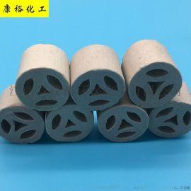专业生产陶瓷化工填料 散堆填料 25mm陶瓷扁环