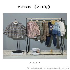 YZKK品牌折扣女装走份20新款冬女装走份货源