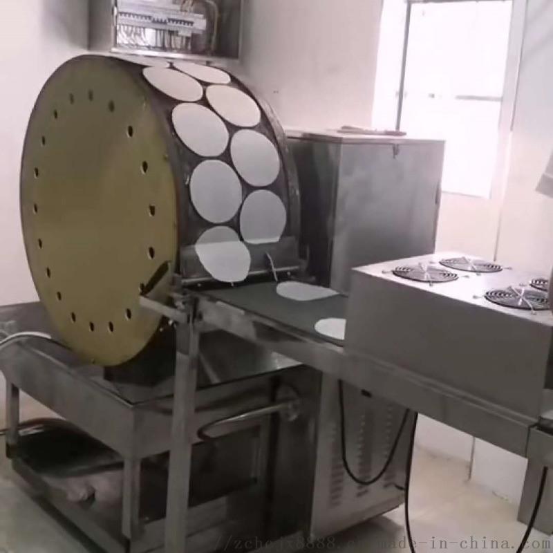 烤鸭饼机器,全自动烤鸭饼机,双排电加热烤鸭饼生产线
