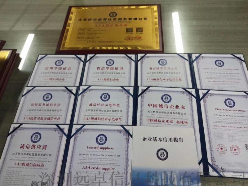 AAA信用企业等级证书