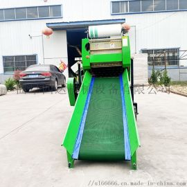 皇竹草青贮打捆包膜机,自动青贮  打包机