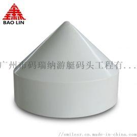 PE塑料帽可内置LED灯水泥柱尖顶桩帽游艺码头设备