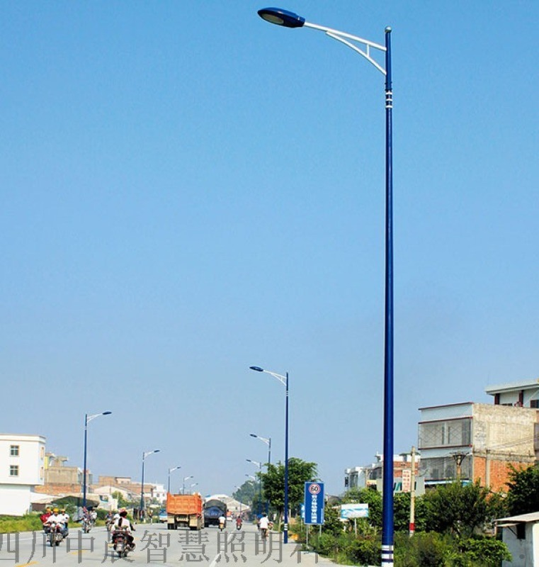 農村太陽能路燈 5米6米7米 戶外道路景觀庭院燈